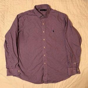 Polo by Ralph Lauren Shirts - Polo Ralph Lauren Men's Shirt - Blue/Pink - XXL